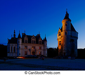 Castle of Chenonceau in France