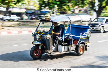 Tuk-tuk in Chiang Mai - Tuk-tuk, favorite transportation in...