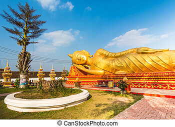 Reclining Buddha in Lao National Culture Hall - Pha That...