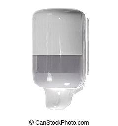 Hand sanitizer dispenser isolated on white