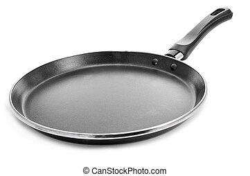 non-stick flat frying pan - a non-stick flat frying pan on a...