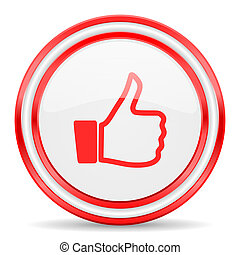 like red white glossy web icon - red web button on white