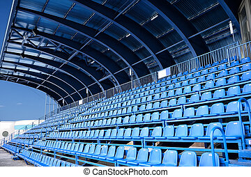 empty blue seat at Stadium