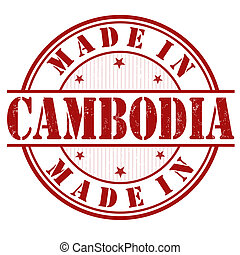 Made in Cambodia stamp - Made in Cambodia grunge rubber...