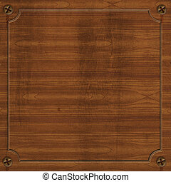 Wooden Plank - Wooden plank illustration with open space for...