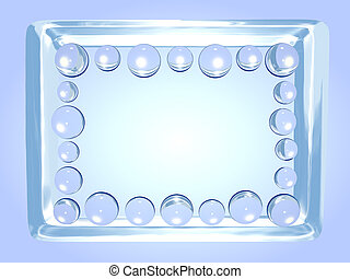 Abstract ice frame - Abstract ice photo frame with glass...
