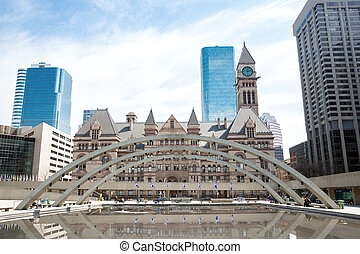 Toronto City Hall - City Hall of Toronto at Nathan Phillips...