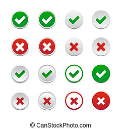 Validation buttons - Set of validation buttons