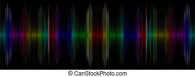 Abstract multicolored sound equalizer display.