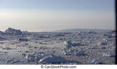 Ilulissat icebergs timelapse 1 - Timelapse 16x of icebergs...