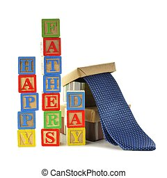 Happy Fathers Day - HAPPY FATHERS DAY toy blocks and gift...