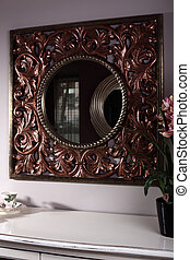 stylish and brand new cabinet with mirror