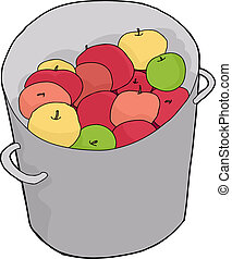 Bucket of Apples - Bucket of various freshly picked apples...