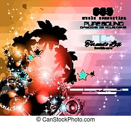 Music Themed background for Disco Club Flyers - Music Themed...