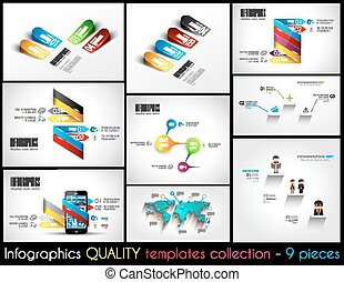 Collection of 9 quality Infographic Templates A lot of...