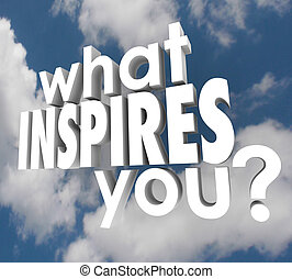 What Inspires You Question Spark Imagination Creativity -...