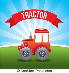disegno, trattore