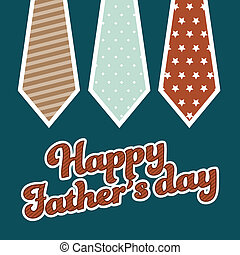 Fathers day over background, vector illustration