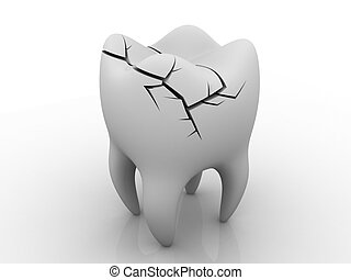 Illness Tooth. isolated background