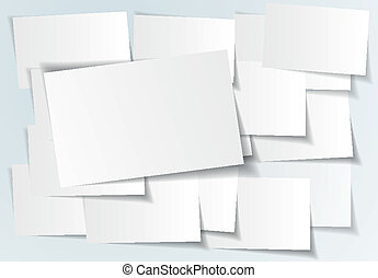 Abstract paper sticker on white background - vector illustration
