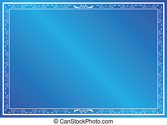 blue vector card with white decor