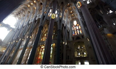 Basilica of Sagrada Familia - BARCELONA, SPAIN - MAY 22,...