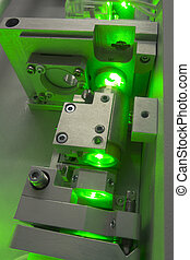 green laser fragment - fragment of complicated laboratory...