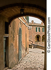 Tuscan village - Lucignano d'Asso is a very small medieval...
