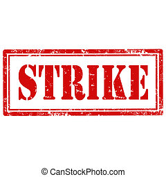 Strike-stamp - Grunge rubber stamp with text Strike,vector...