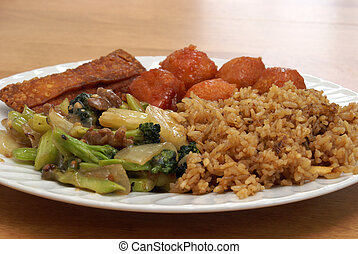 Chinese Food - A dish full of excellent Chinese food.