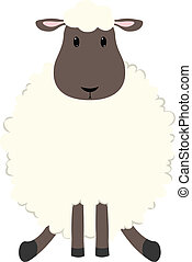 Sheep - Baby sheep seated