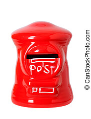 toy post box - red toy post box, post bank style money box