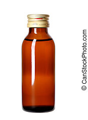 medicine bottle or cosmetic product on white background
