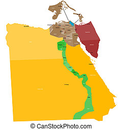 Map of Egypt - Detailed map of Egypt with all regions and...
