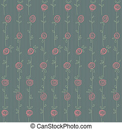 Seamless floral pattern with abstract roses flowers. Vector eps10 background illustration