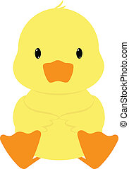 Duck - Baby duck seated