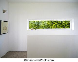 moderno, blanco, ventana