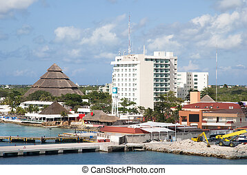 San Miguel Resorts - The view of San Miguel town resorts and...