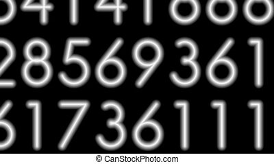 Matrix-33 - Motion background with moving decimal code...