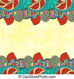 Bright decorative background in folk style