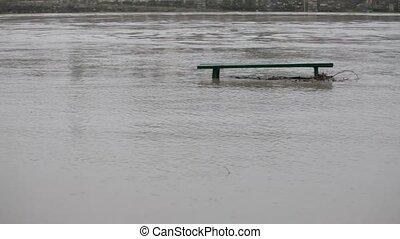 Flood - Sidewalk under the water