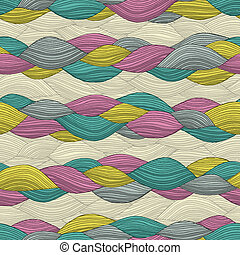 Funky Hair seamless pattern
