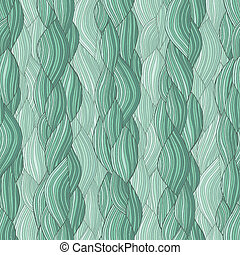 Hair braid seamless pattern