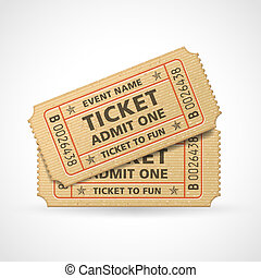 Vector Cinema tickets - Hi quality vector cinema tickets...