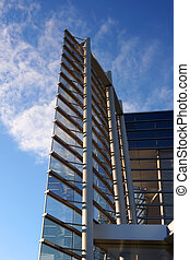 Modern architecture 2 - modern glass fronted building with...