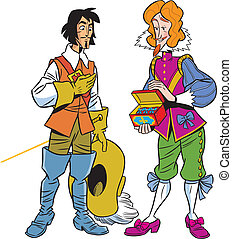 musketeer and the viscount - The illustration shows the...