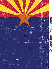 Arizona poster - A grunge vertical flag of arizona for your...