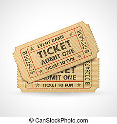 Vector Grunge Cinema tickets - Hi quality vector cinema...