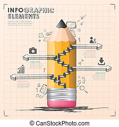 hand draw style vector infographic elements - hand draw...