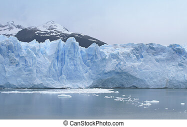 Patagonian landscape with glacier and lake Argentina South...